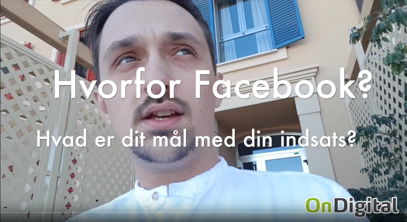 Facebook digital markedsføring ondigital